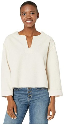 American Rose Viola V-Neck Long Sleeve Sweater (Natural) Women's Clothing
