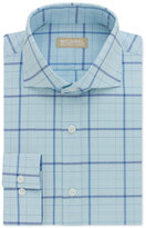 MICHAEL Michael Kors Men's Classic/ Regular Fit Non-Iron Blue Check Dress Shirt