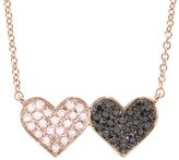 Sydney Evan Double Diamond Heart Necklace
