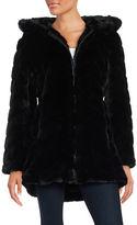 Gallery Plus Hooded Faux Fur Coat