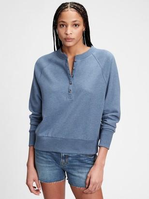 Gap Vintage Soft Henley Raglan Sweatshirt