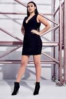 boohoo Premium Plus Harriet Bandage Shoulder Dress