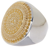 Anna Beck 18K Gold Plated Sterling Silver Two-Tone Textured Round Cocktail Ring