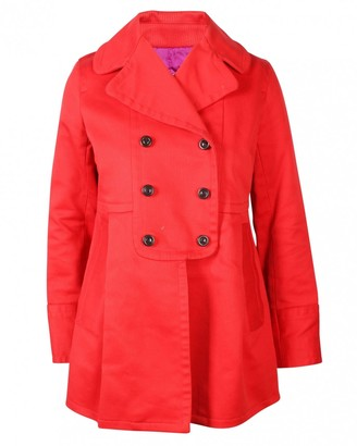 Marc by Marc Jacobs Red Cotton Coat for Women