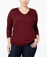 INC International Concepts Plus Size Rib-Knit Top, Only at Macy's