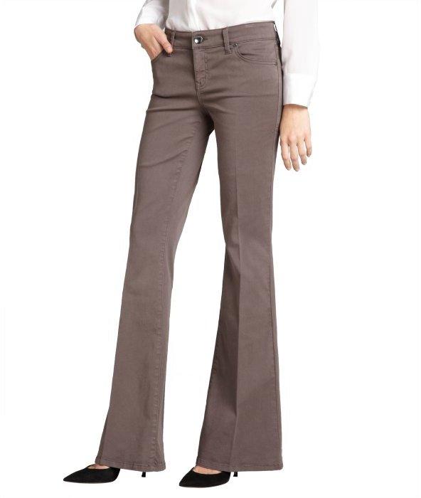 Level 99 dark grey stretch denim 'Dhalia' wide leg jeans