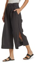 Thumbnail for your product : Joie Paloma Wide-Leg Linen Trousers