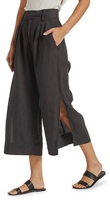 Paloma Wide-Leg Linen Trousers