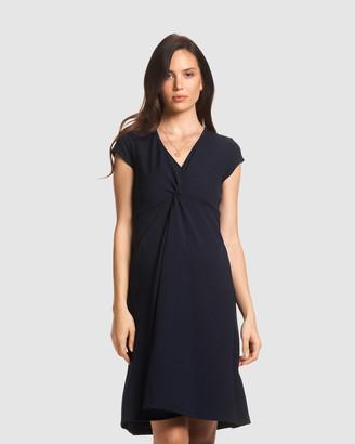 Soon Charlotte Twist Flare Maternity Dress