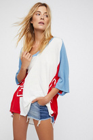 We The Free Sporty Splice Tee at Free People