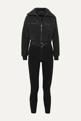 Cordova Telluride Convertible Paneled Ski Suit - Black