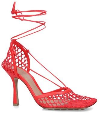 Bottega Veneta Mesh Wrap Sandals 90