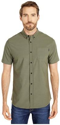 O'Neill Stockton Hybrid Short Sleeve Shirt (Army) Men's Clothing