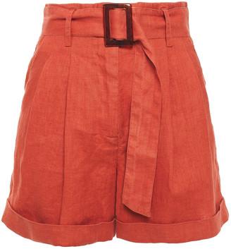 Iris & Ink Dalea Belted Linen Shorts