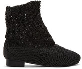 Bless Black Eram Knit Boots