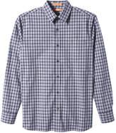 Joe Fresh Men's Button-Front Plaid Shirt, Light Grey Mix (Size S)