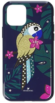 Swarovski Tropical Parrot Smartphone Case with Bumper, iPhone(r) 11 Pro (Multicolor) Cell Phone Case