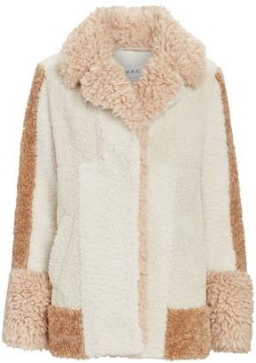 A.L.C. Stan Patchwork Faux Fur Jacket