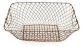 Pfaltzgraff Small Rectangular Wire Basket in Rose Gold