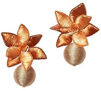 Lizzie Fortunato Tuscan Field Woven Flower Drop Earrings