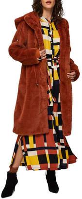 Selected Pafur Faux Fur Coat