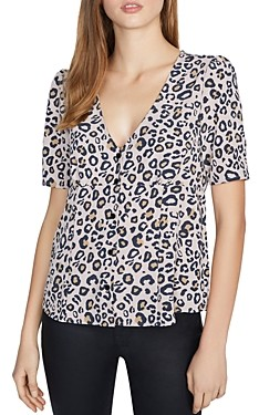 Sanctuary Birdie Animal Print Top