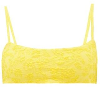 Mara Hoffman Sia Floral-cloque Bikini Top - Womens - Yellow
