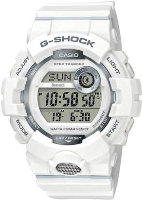 G-Shock Men Digital White Resin Strap Watch 46.6mm