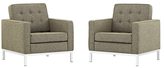 Modway Loft Armchairs (Set of 2)