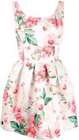 Philipp Plein floral pint dress