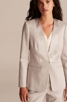 Rebecca Taylor Tailored Slubby Twill Suiting Jacket