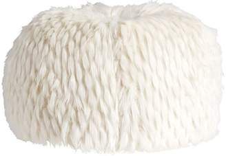 Pottery Barn Teen Faux-Fur Beanbag, Large Slipcover + Insert, Winter Fox