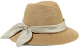 Eugenia Kim Lillian Bow-embellished Woven Paper Sunhat - Sand