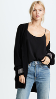 Alexander Wang Oversized Cardigan with Crystal Cuff Trim