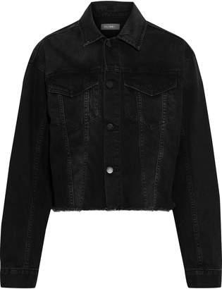 DL1961 Annie Cropped Frayed Denim Jacket