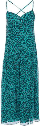 Mason by Michelle Mason Open-back Leopard-print Silk-chiffon Midi Dress