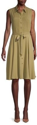 Nanette Nanette Lepore Pintucked Shirtdress