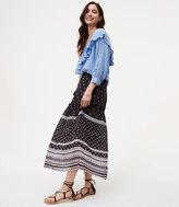 LOFT Striped Mosaic Drawstring Skirt