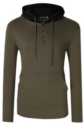 Glowsol Men's Slim Long Sleeve Lightweight Pullover Hoodie Hooded Sweatshirt with Kangaroo Pocket ArmyGreen XL