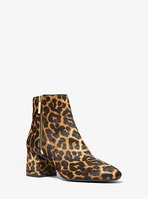 Michael Kors Alane Leopard Calf Hair Ankle Boot