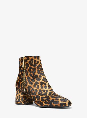 Michael Kors Alane Leopard Calf Hair Ankle Boot