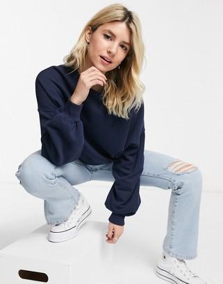 Hollister icon crewneck sweatshirt in navy