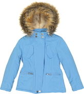 Urban Republic Dolphin Blue Faux Fur Hooded Jacket - Toddler & Girls