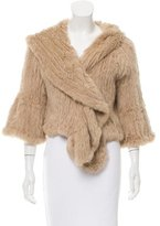 Haute Hippie Knitted Fur Jacket
