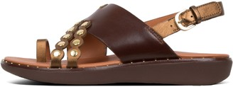 FitFlop Scallop Leather Back-Strap Sandals