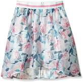 Yumi Girl's Pretty Rose Organza Full Skirt (Mint) Floral Skirt