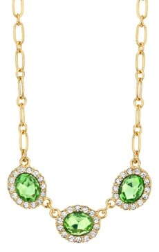 Downton Abbey Peridot with Crystal Accent Necklace