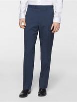 Calvin Klein Body Slim Fit Blue Nailhead Suit Pants