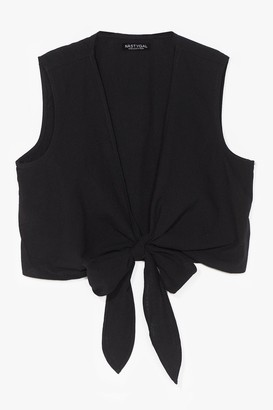 Nasty Gal Womens Time to Waist Plunging Crop Top - Black