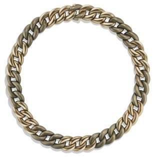 David Yurman Belmont Curb Link Necklace In Titanium With An Accent Of